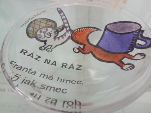 ルヂェク・ヴィムル ガラスプレート