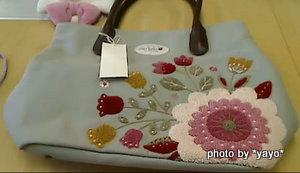 サガラ刺繍のエンブロトートバッグ